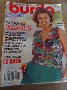 Verzamelingen MAGAZINE BURDA VINTAGE ROBES SOLEIL CORSAGES FOU FOU FOU JUIN  1982