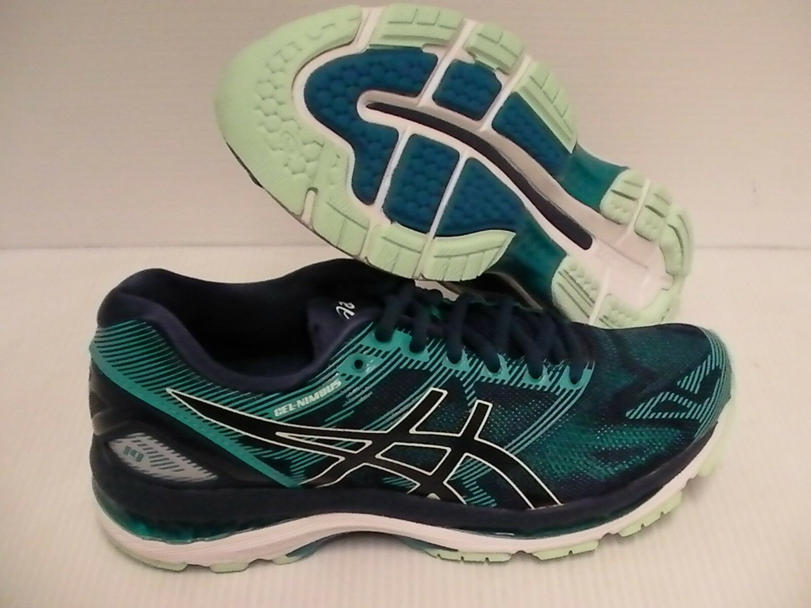 Asics women's gel nimbus 19 insigia bluee glacer sea running shoes size 8.5 us