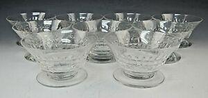Lot-of-9-Tiffin-Crystal-WILLIAMSBURG-Footed-Dessert-Bowls-EX