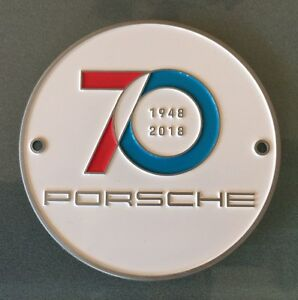 Image Is Loading Genuine Porsche Grill Badge 70 Years 1948 2018