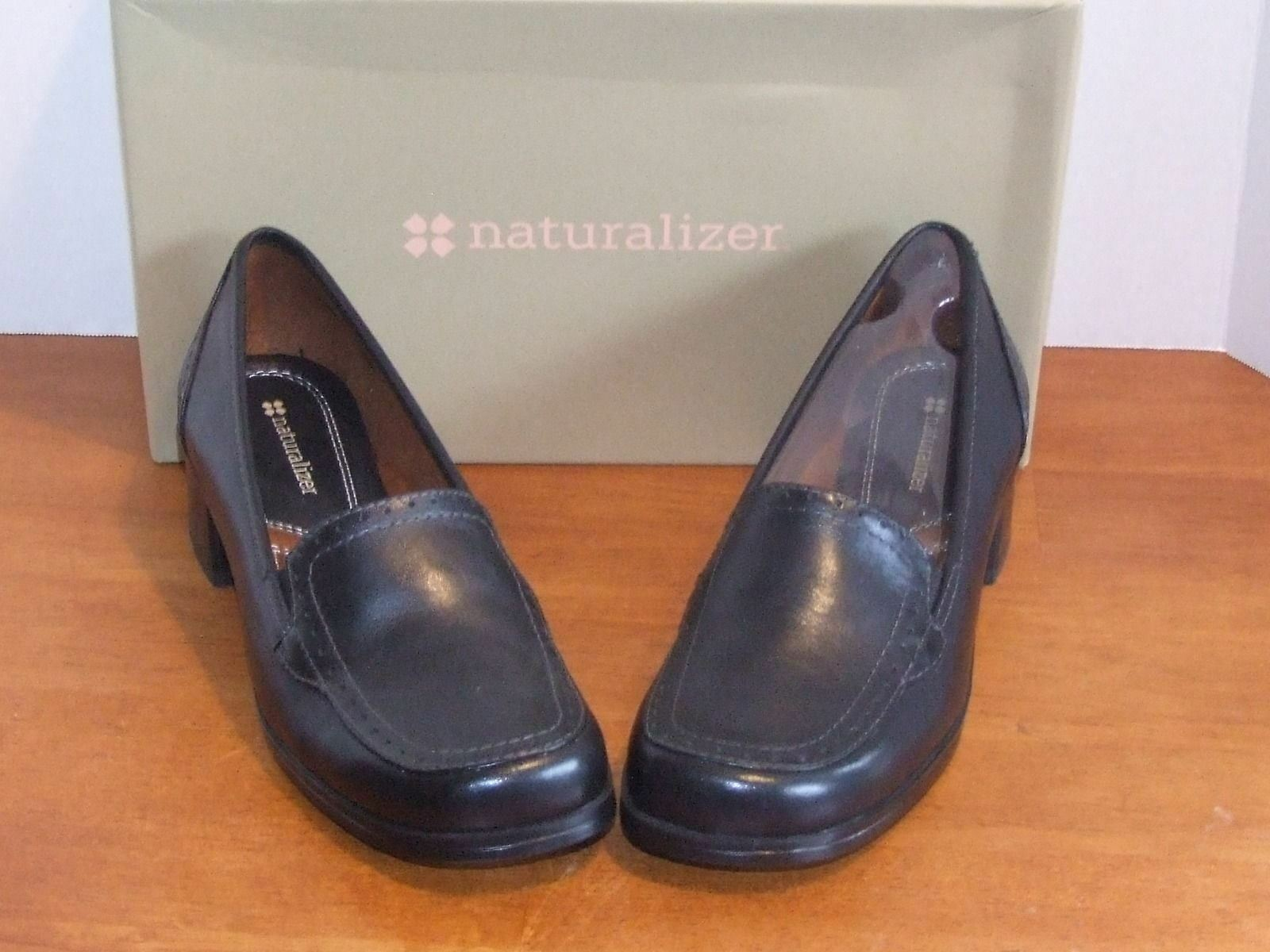 Naturalizer Symbolize Black or Coffee Bean Leather Shoe 1 1/2