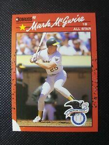 """Donruss 1990 All Star Mark McGuire No Color + No Dot After Inc """"ERROR"""" """"Mint"""""""