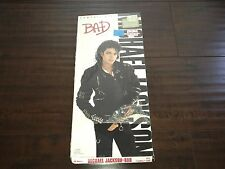 1987 EMPTY Vintage MICHAEL JACKSON Bad CD LONGBOX very rare USED