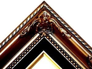 Brown-Ornate-Black-Liner-Wedding-Studio-Portrait-Picture-Frame-B5BB
