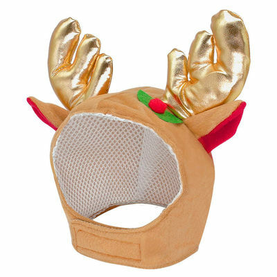 Dog Christmas Hat Antler Reindeer Style Pet Cap Party Cute Costume Headwear S-L