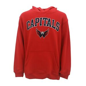 big sale 513a0 2f16e Details about Washington Capitals Official NHL Apparel Kids Youth Size  Hooded Sweatshirt New