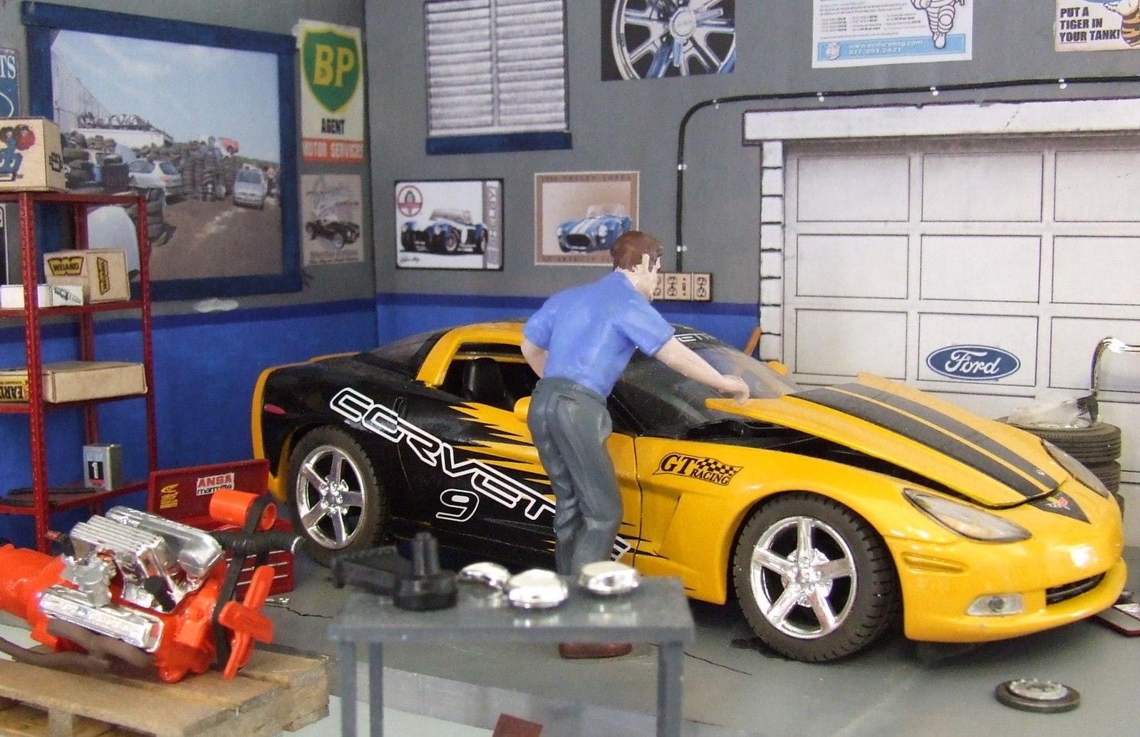Barn find, wreck 2005 Chevrolet Corvette C6R GT2 Racing diecast 1 24 + BIN bonus