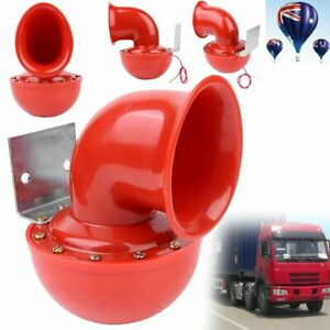 5 Musical Trumpet Air Horn Kit Red 12V 150dB Car Truck Train Boat Motorcycle NEW