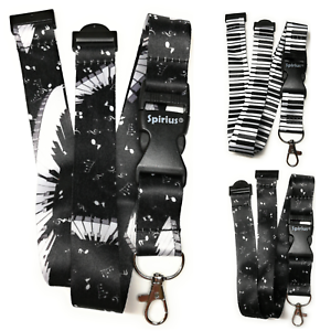 Music-Lanyard-Neck-Strap-for-ID-Badge-holder-with-metal-Clip-Spirius