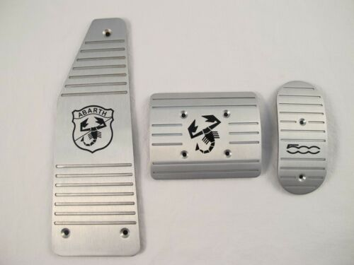 Aluminum Automatic AT Pedal Pads Cover For Fiat 500 ABARTH 3