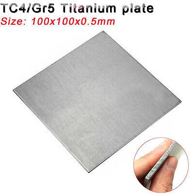 1pc TC4/GR5 Titanium Alloy Plate Panel Sheet Durable Metal 100mm x 100mm x  0 5mm | eBay