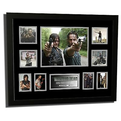 THE WALKING DEAD DARYL & RICK SIGNED LIMITED EDITION FRAMED MEMORABILIA