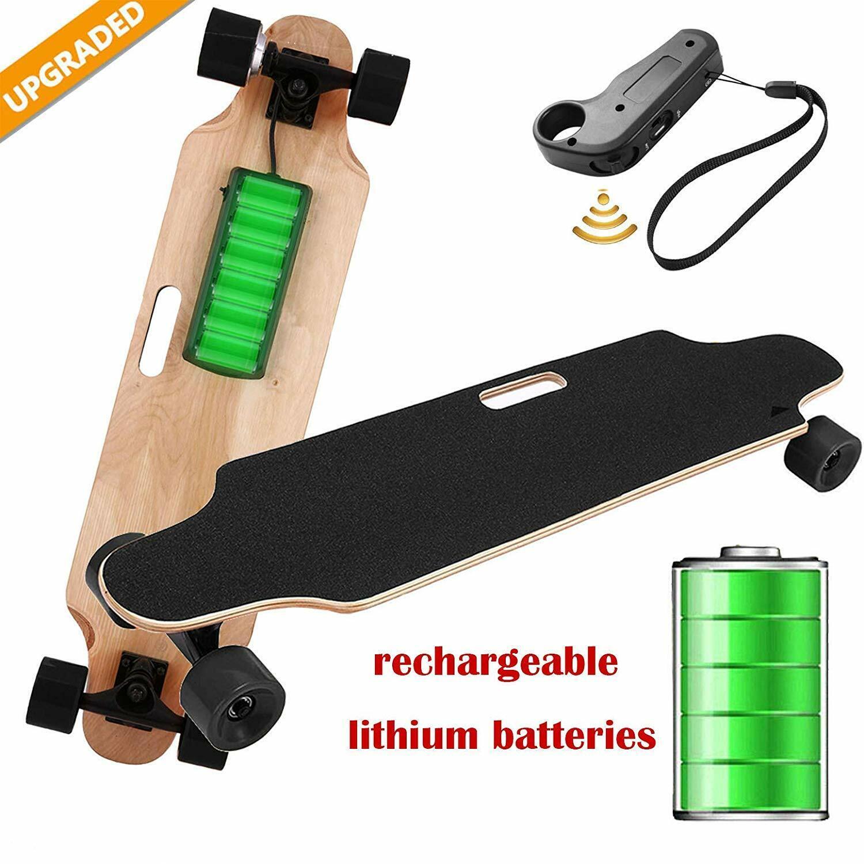 Aceshin Electric Skateboard with Wireless Handheld Remote Control Portable Maple Skateboard Cruiser