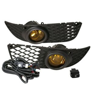 Fit 11-13 Scion TC Front Bumper Fog Lights Amber H11 Bulbs Wiring+Switch