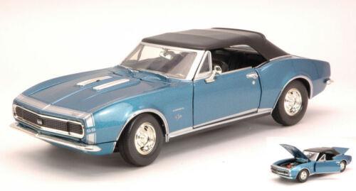 Chevrolet Camaro SS 1967 Metallic Blue 1:24 Model MOTORMAX