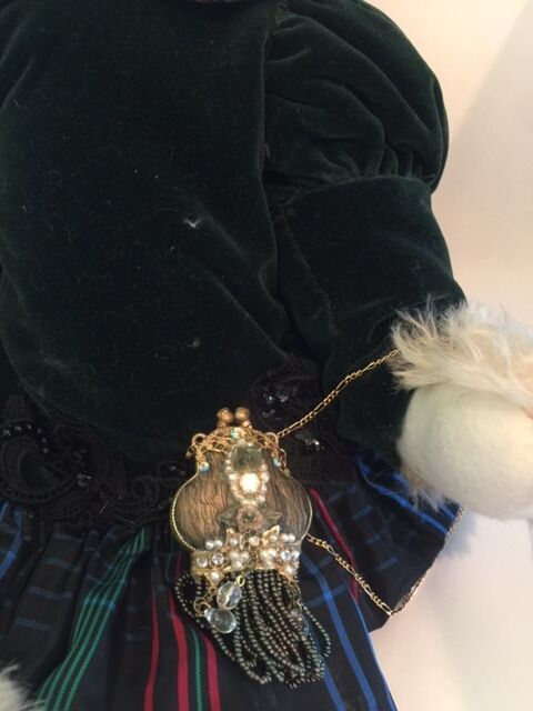 LENORE DEMENT'S DEMENT'S DEMENT'S  HANNAH - JUST WEE BEARS LIGHT BLOND MOHAIR-VICTORIAN OUTFIT 19  100546