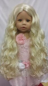 """NWT Monique Donna Pale Blonde Doll Wig 17-18"""" fits Masterpiece Doll(WIG ONLY)"""