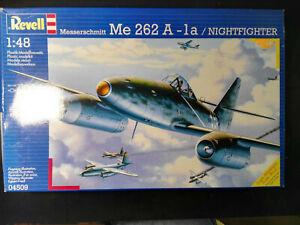 Messerschmitt-Me-262-A-1a-Nachtjaeger-Revell-Scale-1-48-Kit-04509-Raritaet