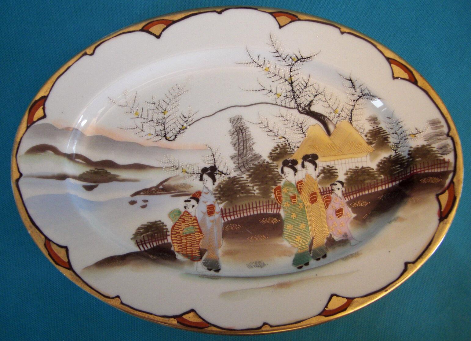 PLAT EN PORCELAINE FINE DU JAPON ANNÉES 50 Ref  302762971903