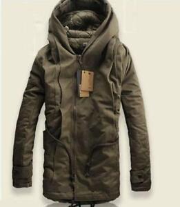 591db706b09 New Men s Jacket Winter Stylish Hooded Canvas Cotton Warm Outwear ...