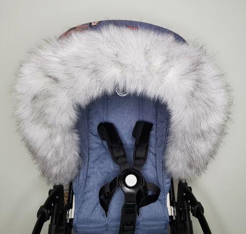 Luxe Landau Fourrure Capuche Fourrure Bordure bébé landau poussette nacelle bon marché beaucoup de couleurs