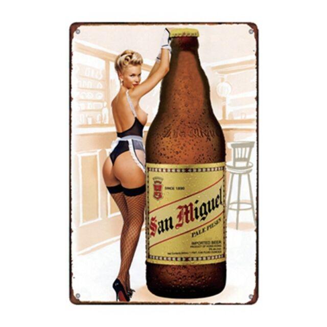 Metal Tin Sign san miguel beer Bar Pub Home Vintage Retro Poster Cafe ART