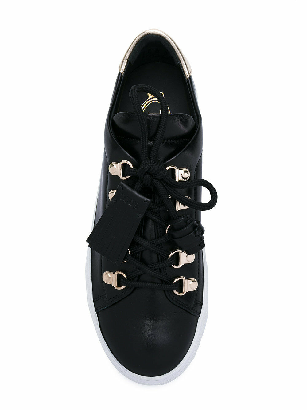 NIB Tod's  Tassel Sneaker in Black Leather, Size 40, US 10