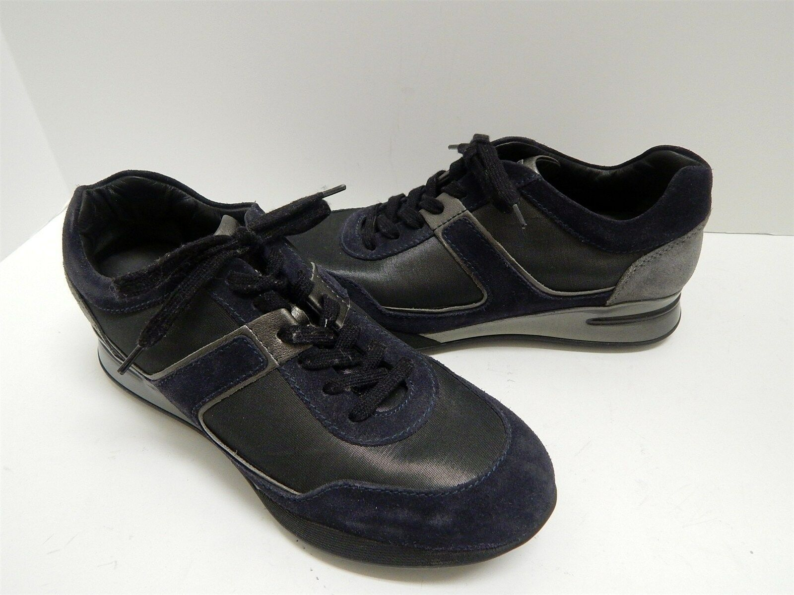 Tod's Project Italy Black Metallic Metallic Metallic Leather Fashion Sneakers 38 US 7.5 M 6bff1e