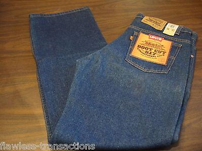Delizioso Levi Jeans Vintage 517 Arancione Tab Bootcut Jeans Blu Jeans Levis 36 X 32 Nuovo Aroma Fragrante