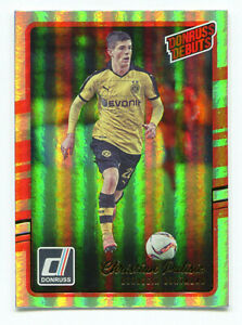 CHRISTIAN-PULISIC-2016-17-Panini-Donruss-Debuts-Rookie-Holo-Holographic-RC-SP