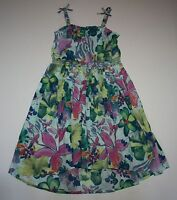 Next Uk Floral Print Summer Bow Strap Tank Dress 6 Year Or 116cm