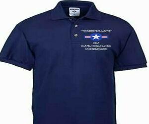 RAF FELTWELL STATION UNITED KINGDOM USAF EMBROIDERED POLO SHIRT/SWEAT/JACKET.
