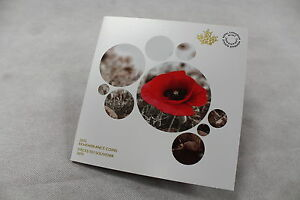2015-RCM-Flanders-Fields-Poppy-Remembrance-Day-Collector-Card-w-Coins