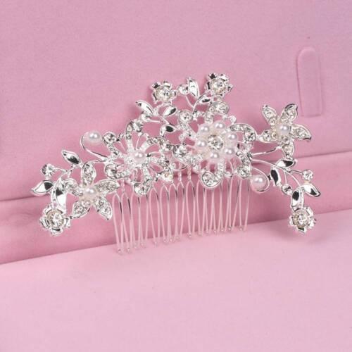 Fashion Hair Combs Handmade Wedding Bridal Bride Crystal Pearl Hairpin Hair Clip