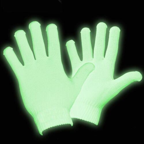 Glow Gloves Glow in the Dark Gloves Rave Gloves Party Gloves
