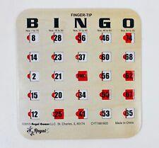 Regal Games Woodgrain//Tan Fingertip Shutter Slide Bingo Cards