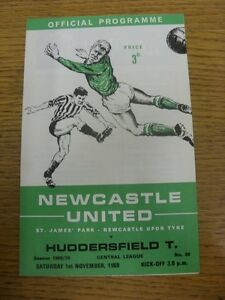 01-11-1969-Newcastle-United-Reserves-v-Huddersfield-Town-Reserves-4-Pages-fol