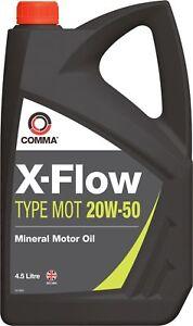 COMMA-X-FLOW-20W50-MINERAL-MOTOR-OIL-4-5L-PETROL-DIESEL-VINTAGE-CLASSIC-ENGINE