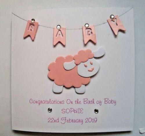 Fabulous Handmade Personnalisé Baby Girl Carte