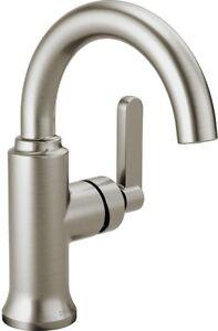 Delta Alux Spotshield Brushed Nickel 1 Handle Single Hole Bathroom