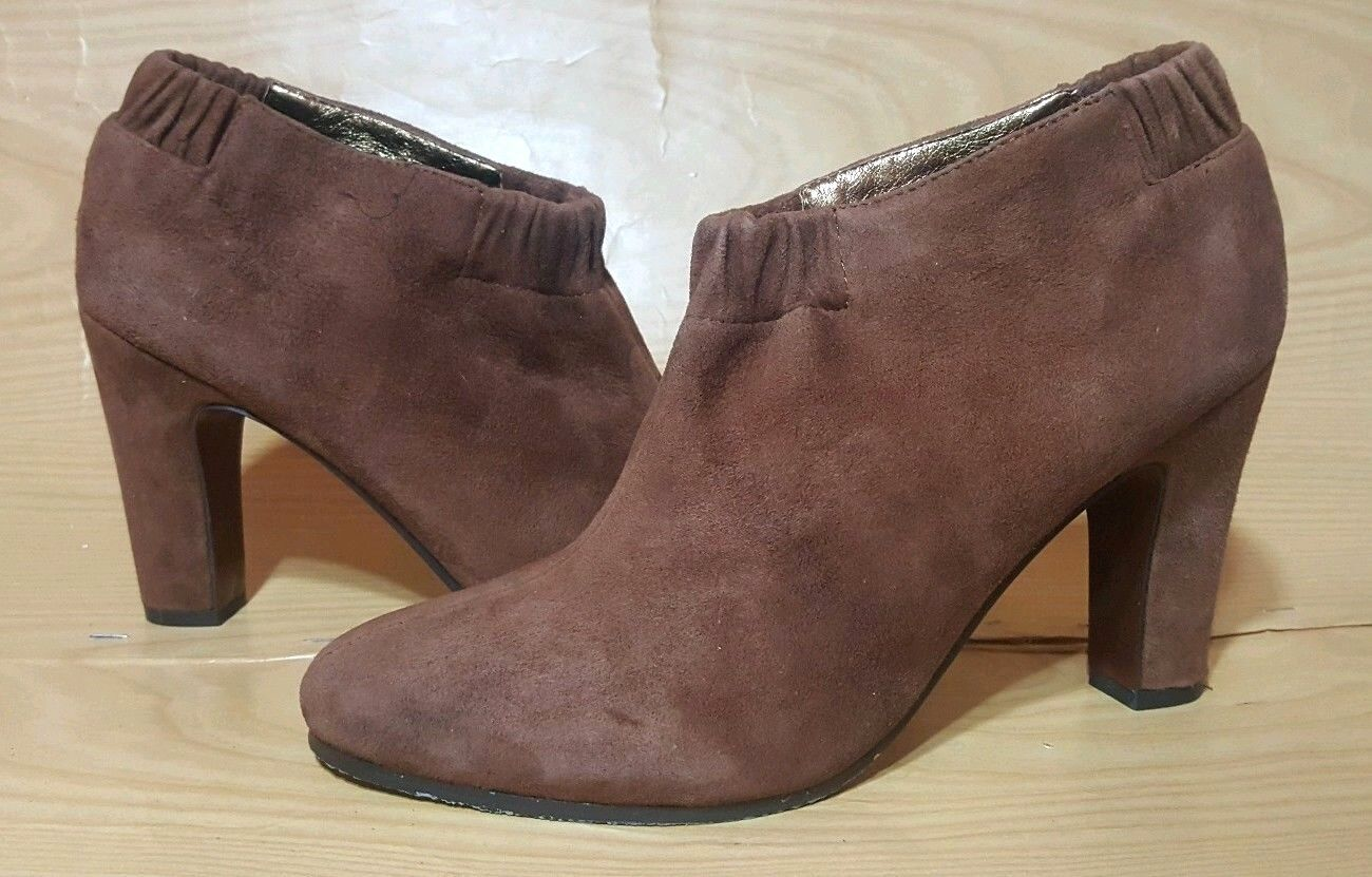 Sam Edelman Booties 8 M brown Suede Leather shoes