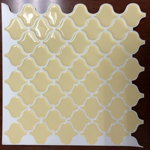 3D Tile Yellow Arabesque Peel And Stick Self Adhesive Wall Sticker Home Decor