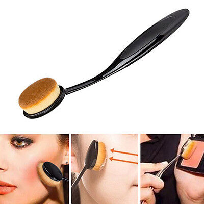 1Pcs Pro Oval Make up Brush Cream Foundation Powder Contour Cosmetic Tool Brown
