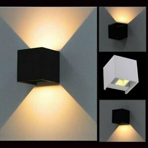 12w Led Up Down Wall Lights Modern Sconce Cube Outdoor Indoor Wall Lamp Fixture Ebay