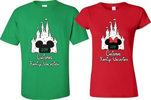 New-DISNEY-Castle-FAMILY-Christmas-Vacation-2019-T-Shirts-Minnie-Mickey