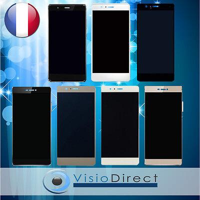 Écran complet pour Huawei P7 P8 P8 Lite P9 P9 Lite vitre+LCD Noir/Gris/Or/Blanc