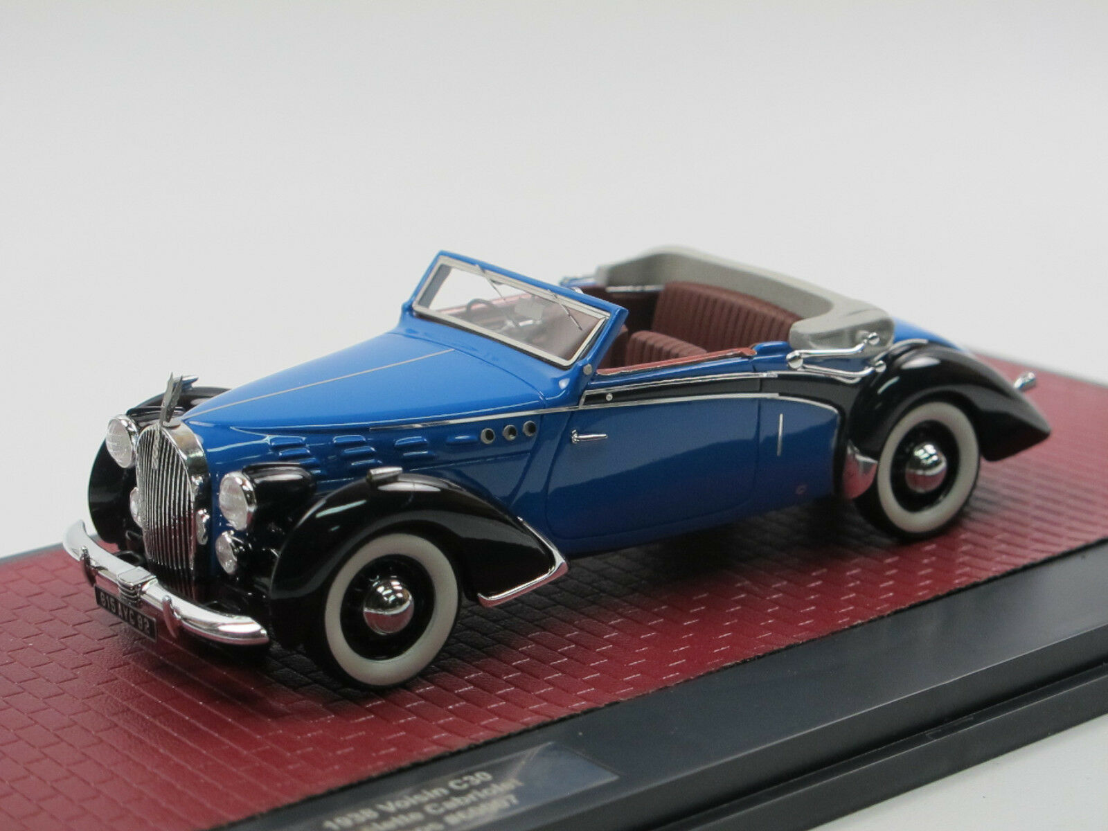 MATRIX SCALE MODELS 1938 Hood c30 GOELETTE ACAPULCO BY Dubos Open bleu 1 43
