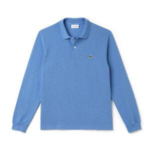 L1313 Manica Lacoste Polo Lunga Bleu Maglia Lagon Chine Cotone Azzurro Shirt Sae FWnTFR