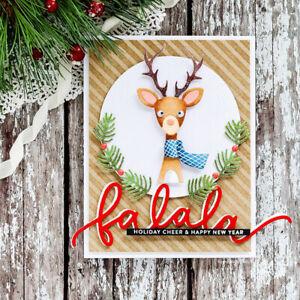 Frohe Weihnachten Metall Stanzformen Schablone Scrapbooking Karte Prägen DIY