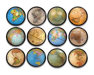Image Is Loading Old World Globe Dresser Drawer Pulls Vintage Map